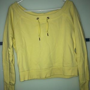 Yellow off the shoulder Sweater